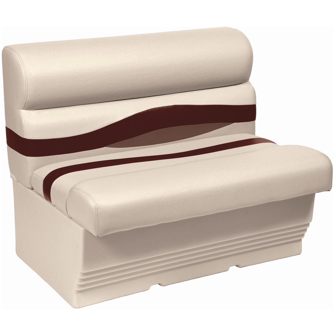 "Wise® Premier 45"" Pontoon Bench Seat, Color C - Platinum Punch / Wineberry / Manatee"