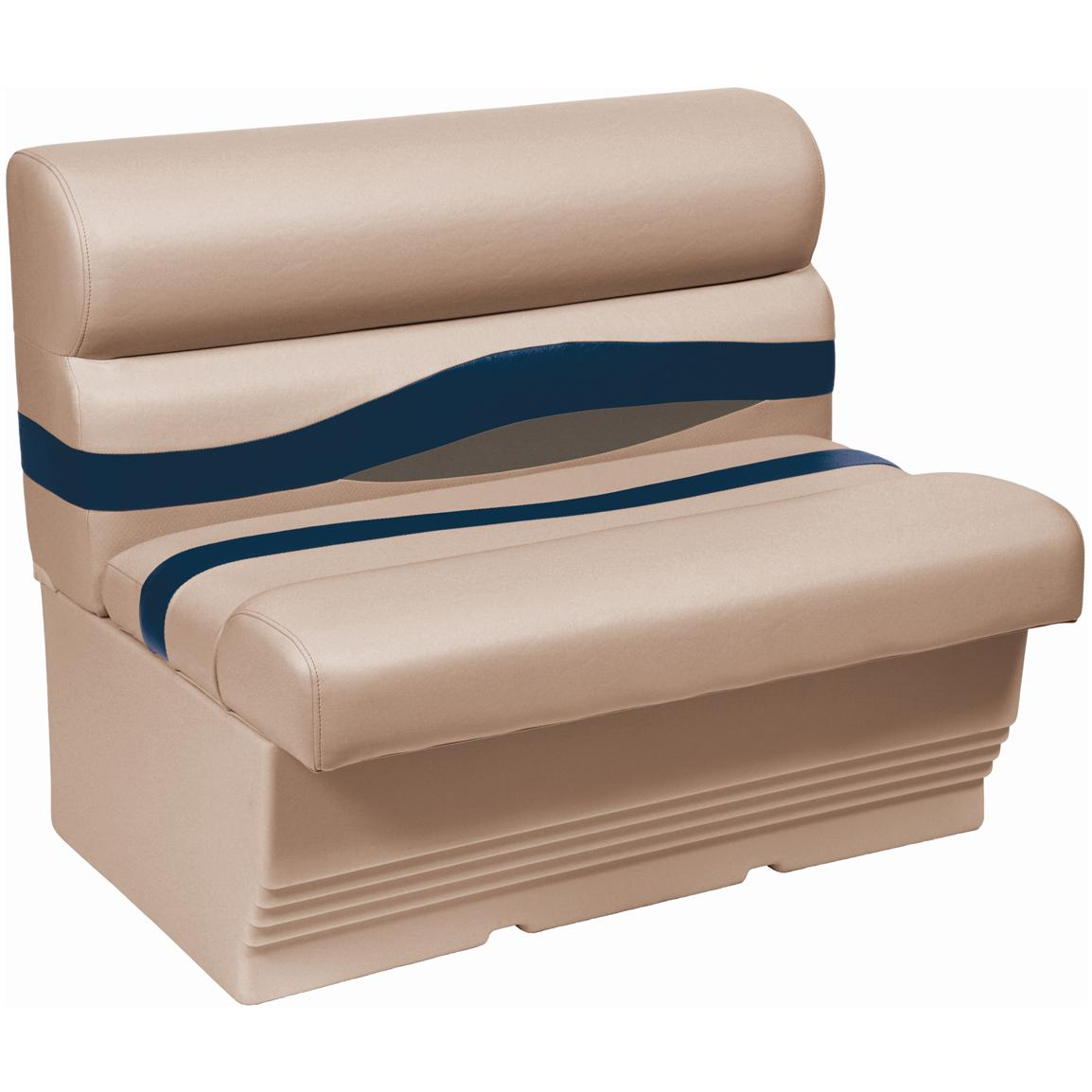 "Wise® Premier 45"" Pontoon Bench Seat, Color D - Mocha Java Punch / Midnight / Rock Salt"