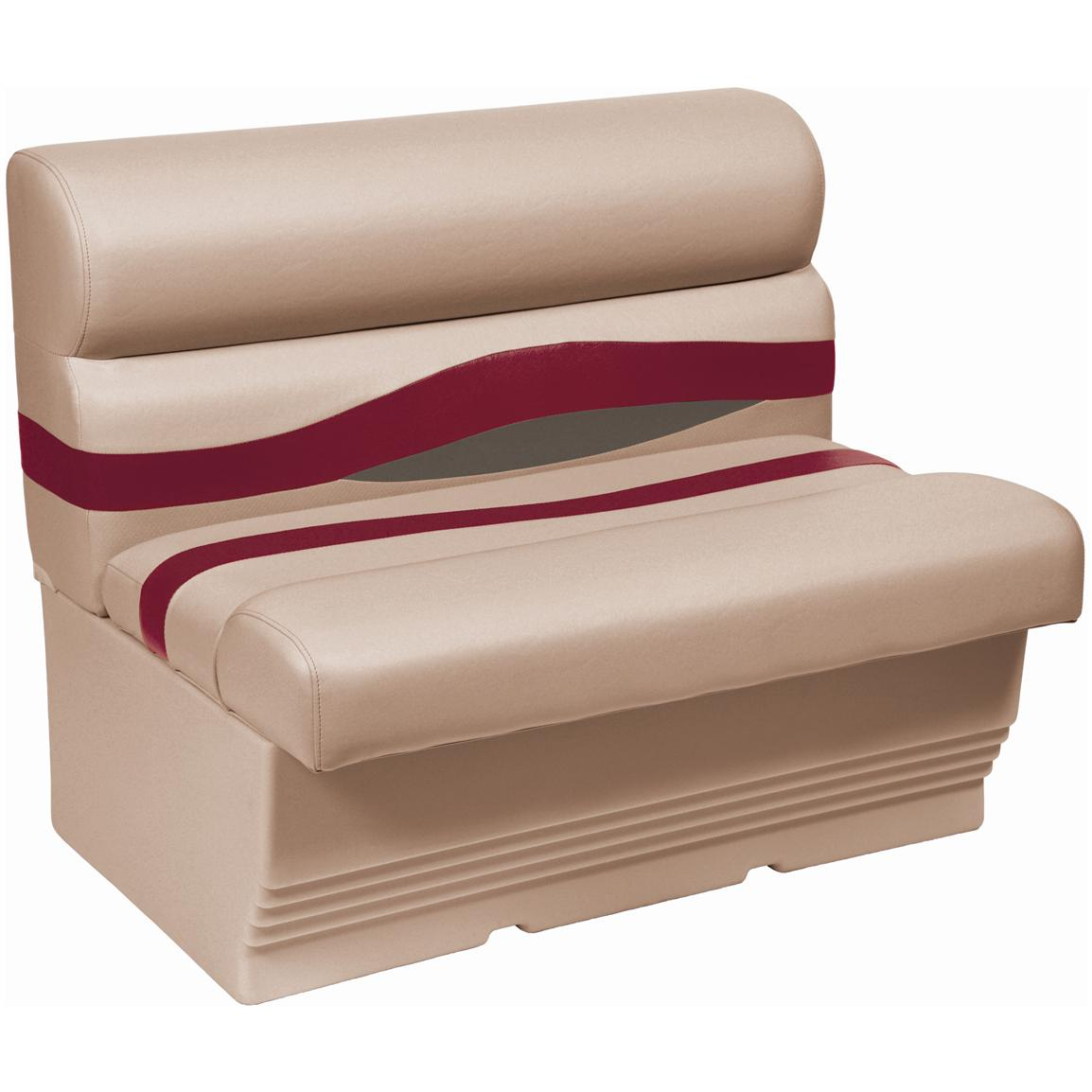 "Wise® Premier 45"" Pontoon Bench Seat, Color E - Mocha Java Punch / Dark Red / Rock Salt"
