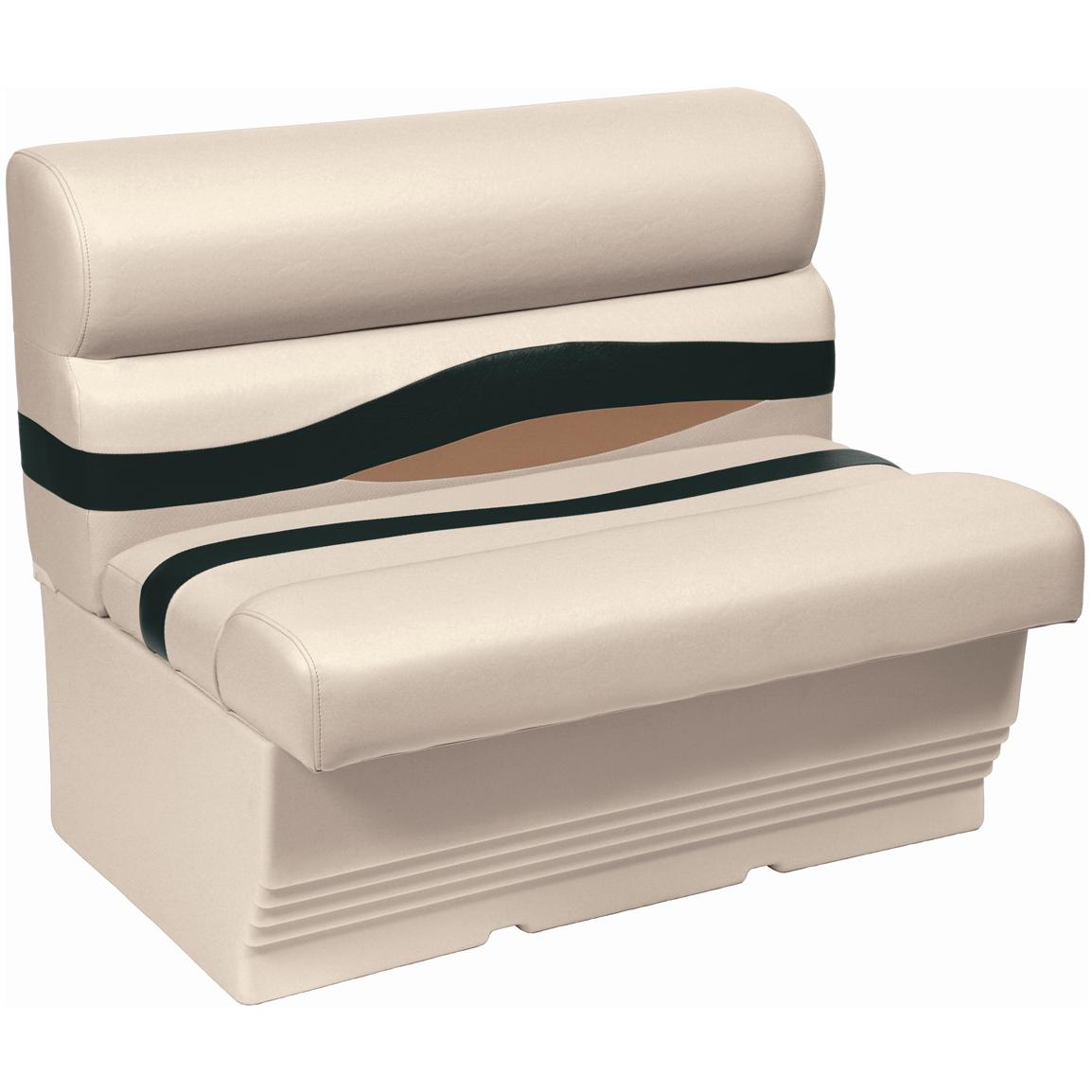 "Wise® Premier 45"" Pontoon Bench Seat, Color B - Platinum Punch / Jade / Fawn"