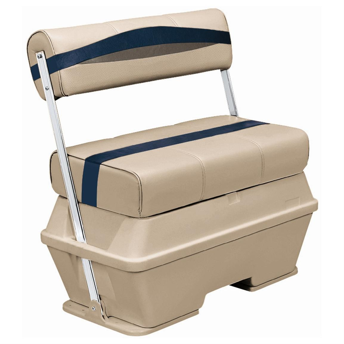 Wise® Premier Cooler Flip-Flop Pontoon Seat, Color D - Mocha Java Punch / Midnight / Rock Salt