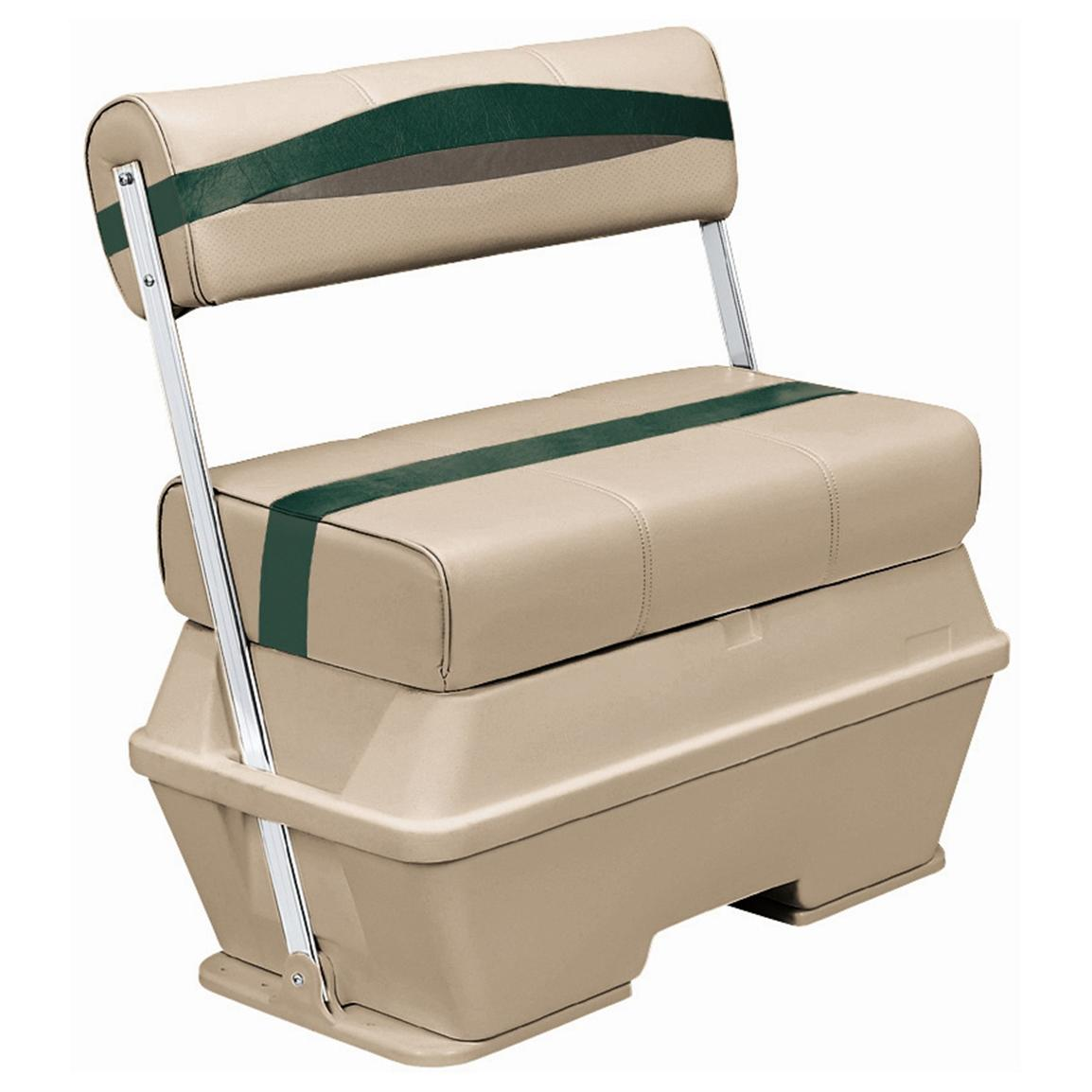 Wise® Premier Cooler Flip-Flop Pontoon Seat, Color F - Mocha Java Punch / Evergreen / Rock Salt