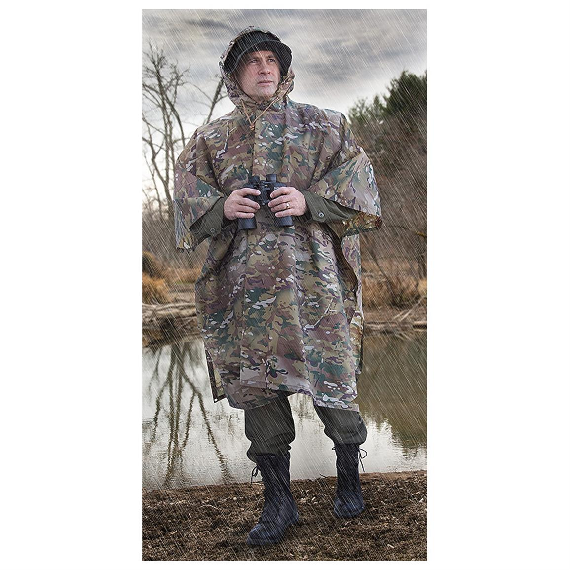 New U.S. Military Poncho with Pouch, MultiCam®