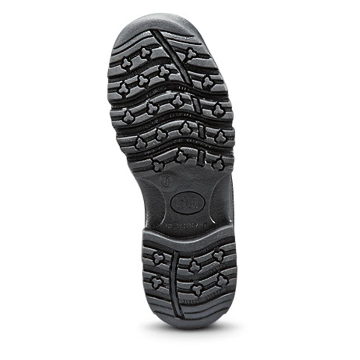 Aggressive slip and oil-resistant rubber outsole