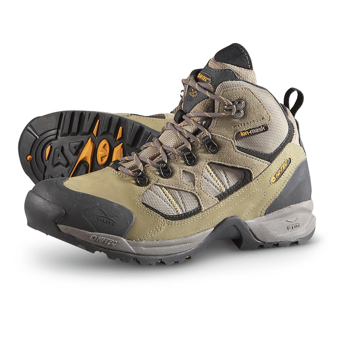 Men's Hi-Tec® V-lite™ Mt. Nevis II Waterproof Hiking Boots, Olive / Taupe