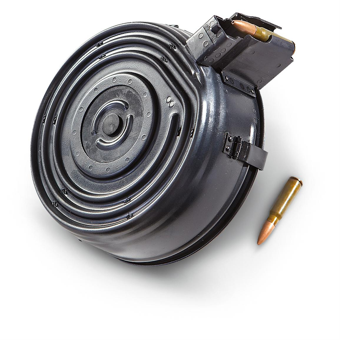 AK-47 Drum Magazine, 75 Rounds • Fire away with 75 rds. at the ready!