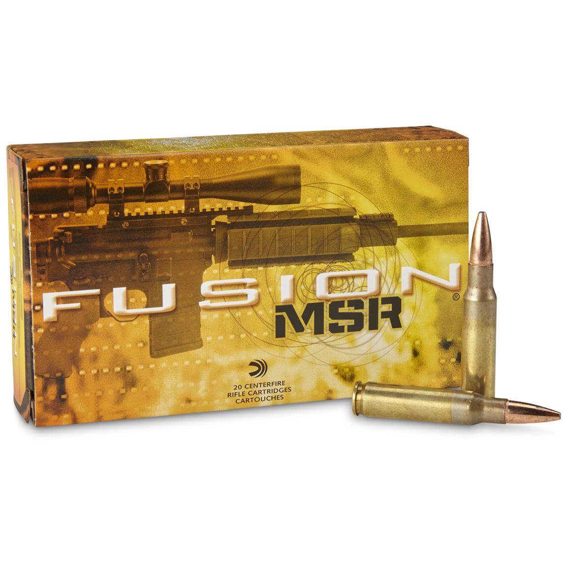 Federal Fusion MSR, .308 Winchester, SP, 150 Grain, 20 Rounds