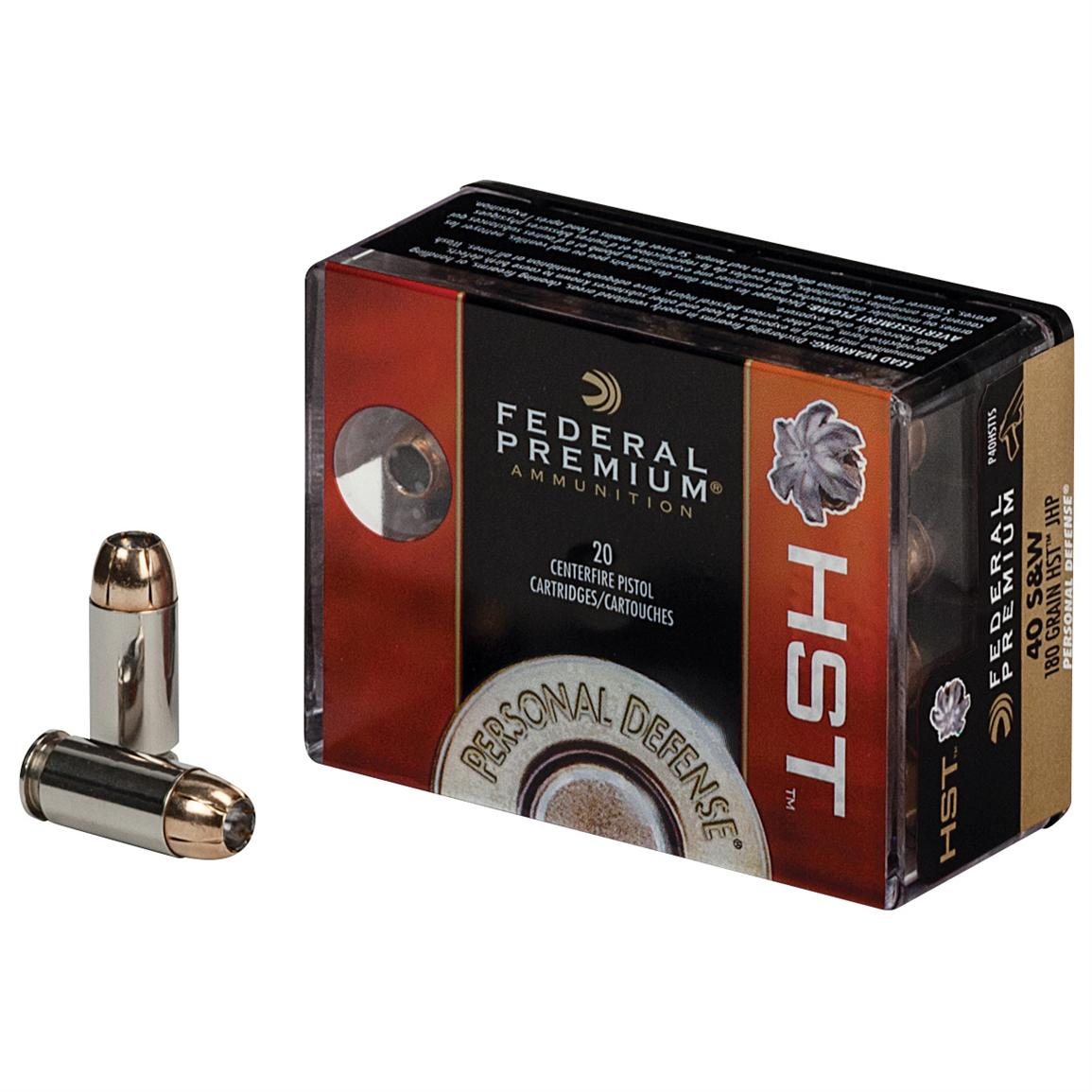 20 rds. Federal Premium Personal Defense® HST Ammo. (Box photoed is for illustrative purposes only, offer is for Federal Premium 9mm Luger)
