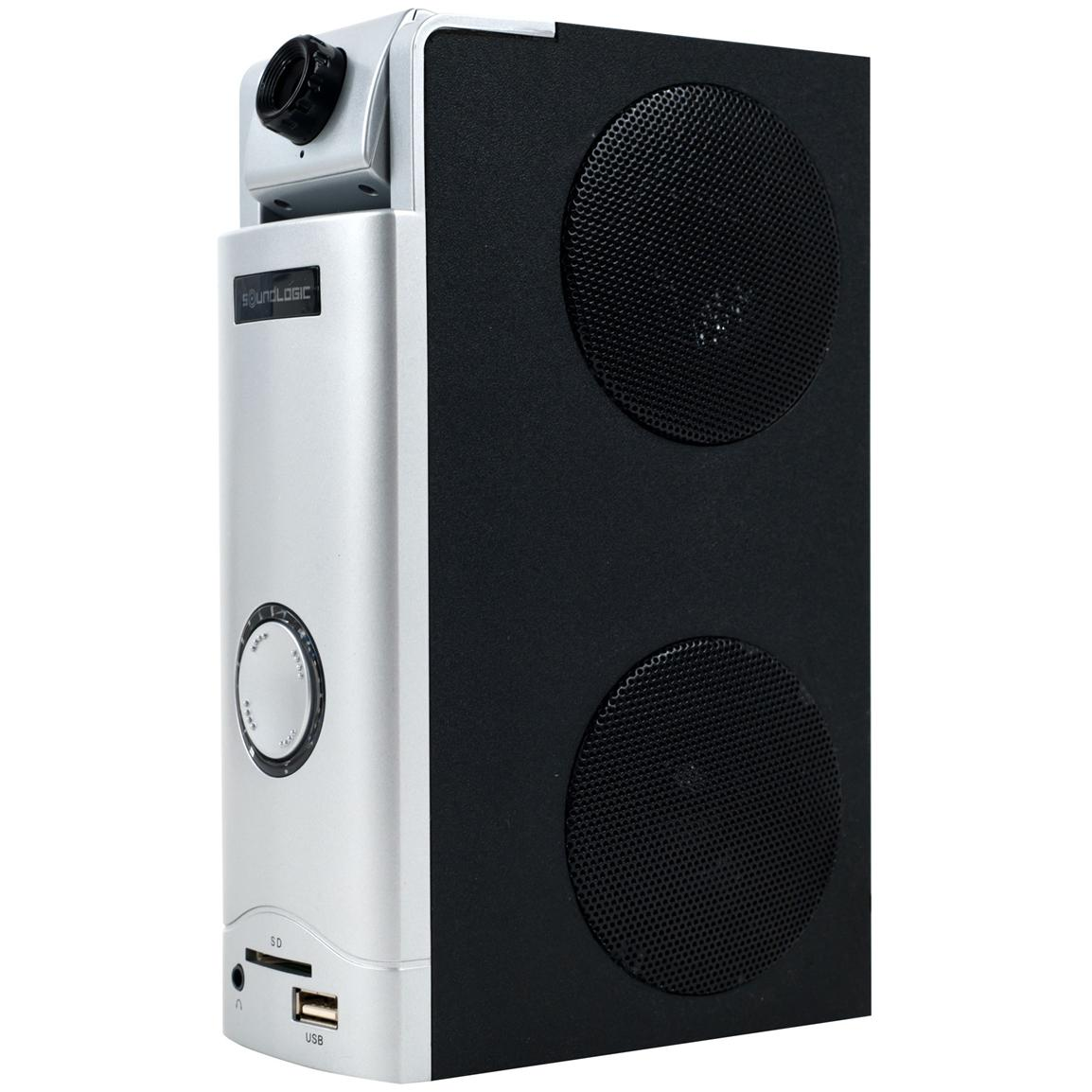 Multimedia speaker for video chats and listening to music