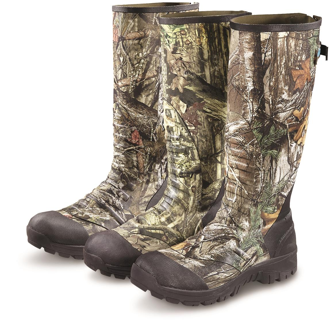 Guide Gear Men's Ankle Fit Insulated Rubber Boots, 800 Gram • From Left to Right: Mossy Oak Break-Up Country / Mossy Oak Break-Up Infinity / Realtree Xtra