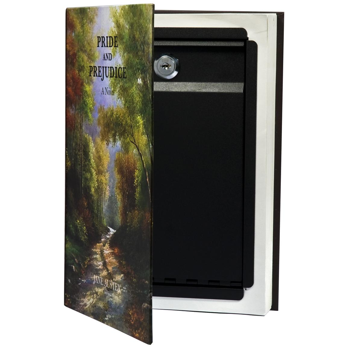 On the inside, it's a strong, compact steel safe with key-lock entry... perfect for storing money, passports and jewelry