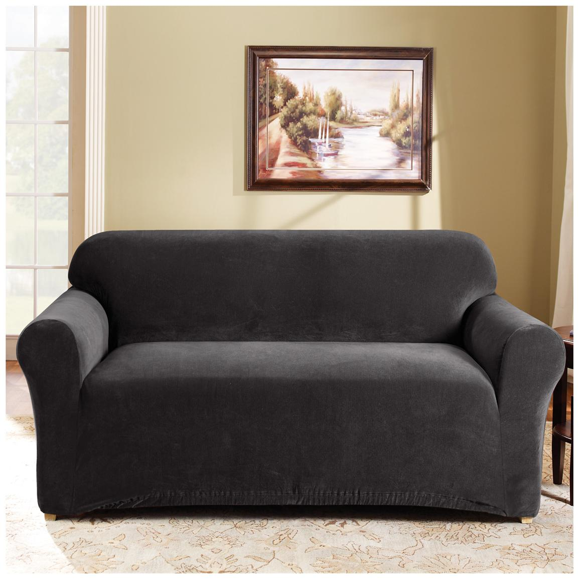 Sure Fit® Stretch Pearson Sofa Slipcover, Ebony