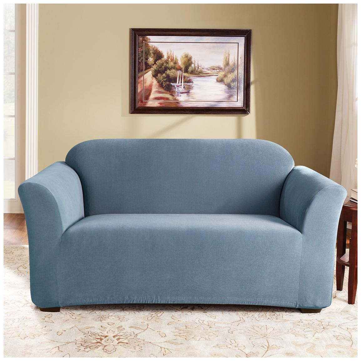 Sure Fit® Stretch Pearson Sofa Slipcover, Federal Blue