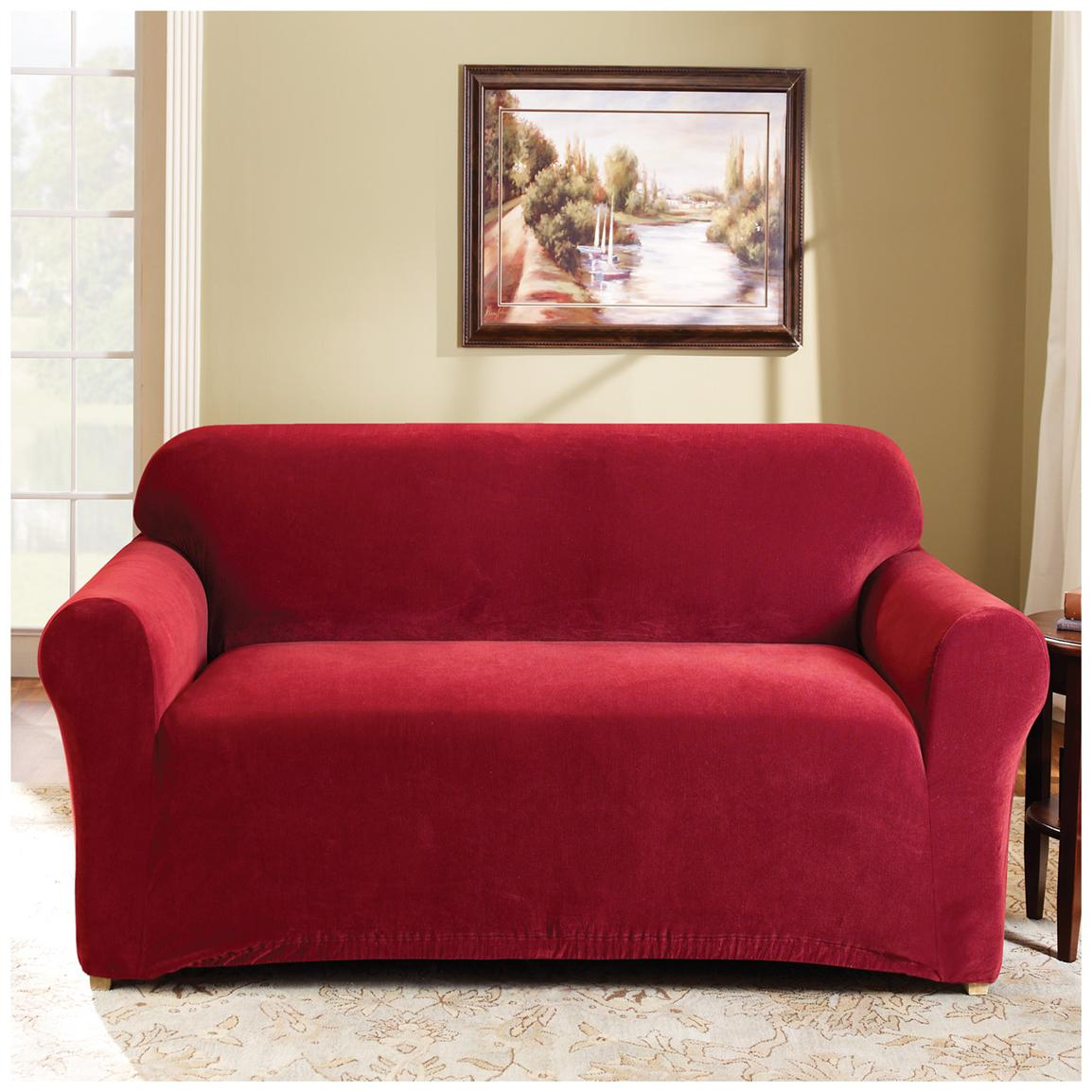 Sure Fit® Stretch Pearson Sofa Slipcover, Red