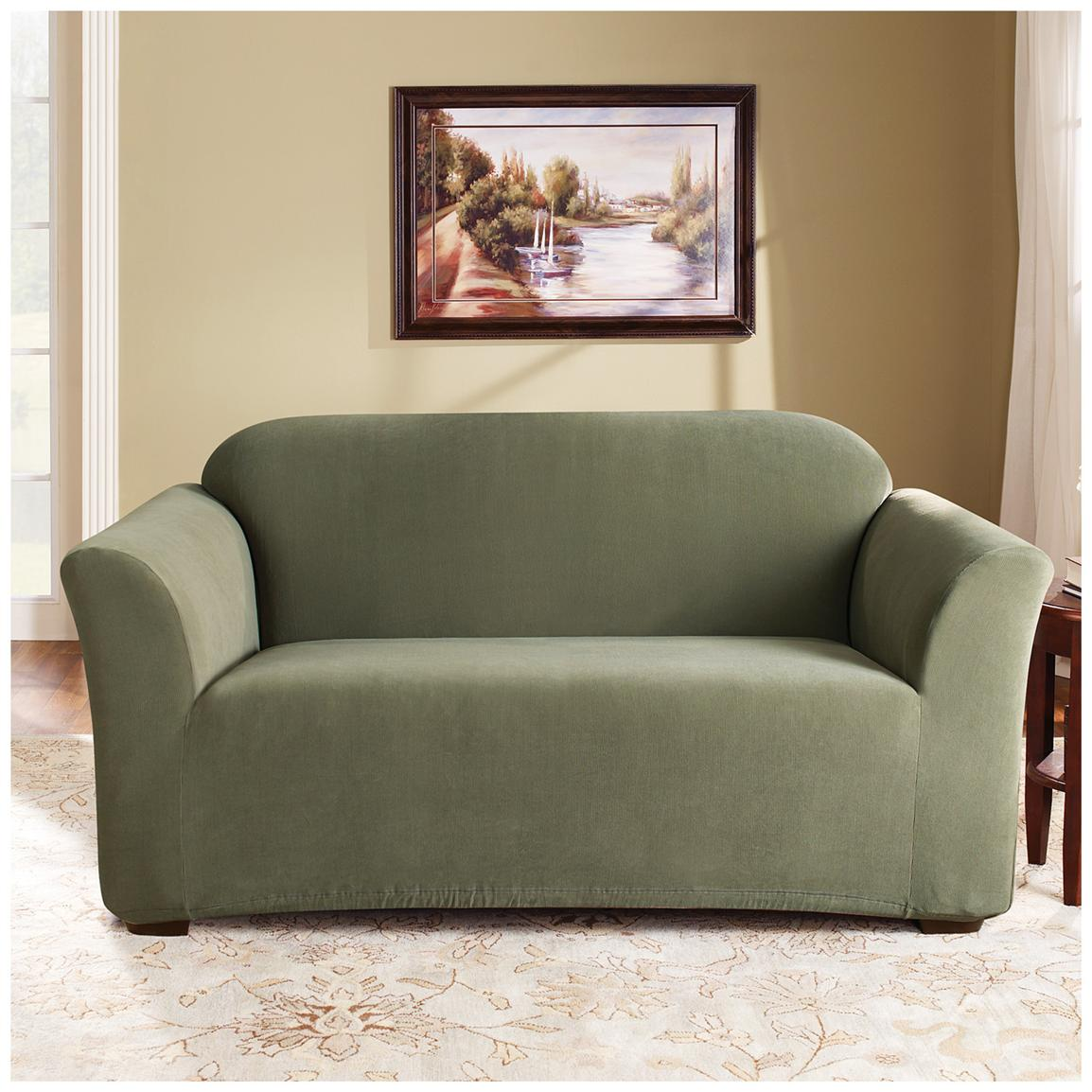 Sure Fit® Stretch Pearson Sofa Slipcover, Sage