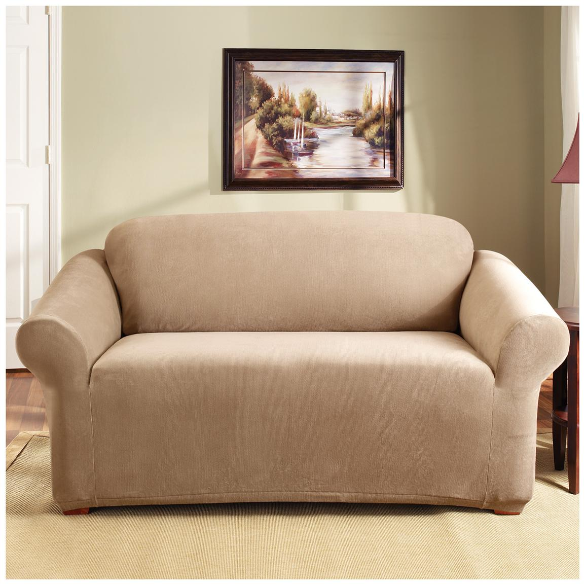 Sure Fit® Stretch Pearson Sofa Slipcover, Dark Flax