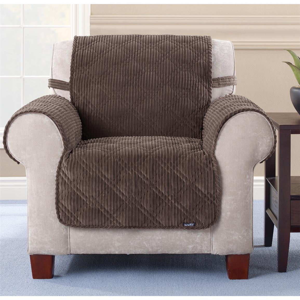 Sure Fit Quilted Corduroy Chair Pet Cover 292844 Furniture