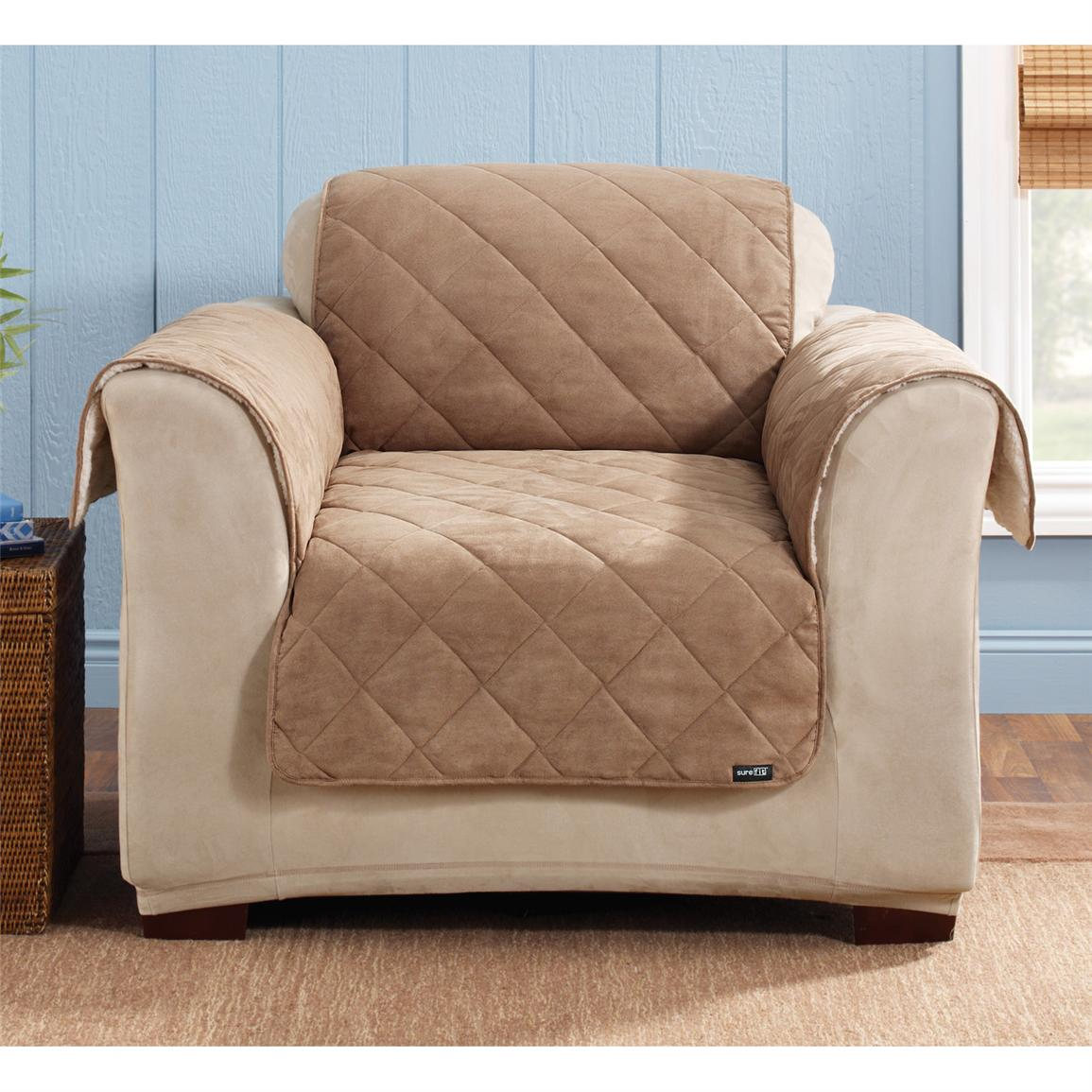Sure Fit Reversible Suede Sherpa Chair Pet Cover 292847