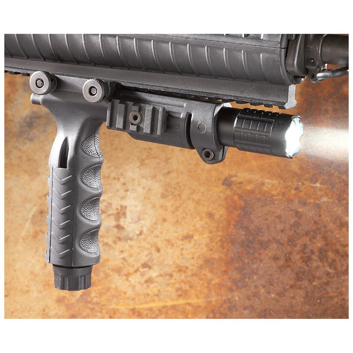Tactical Foregrip with Super Bright 180-lumen LED Flashlight