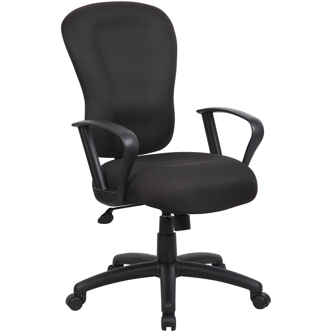 Boss™ Black Task Chair with Loop Armrests