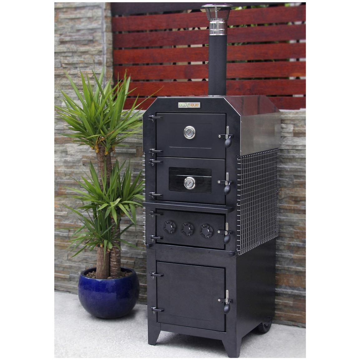 EcoQue® Wood-fired Pizza Oven and Smoker
