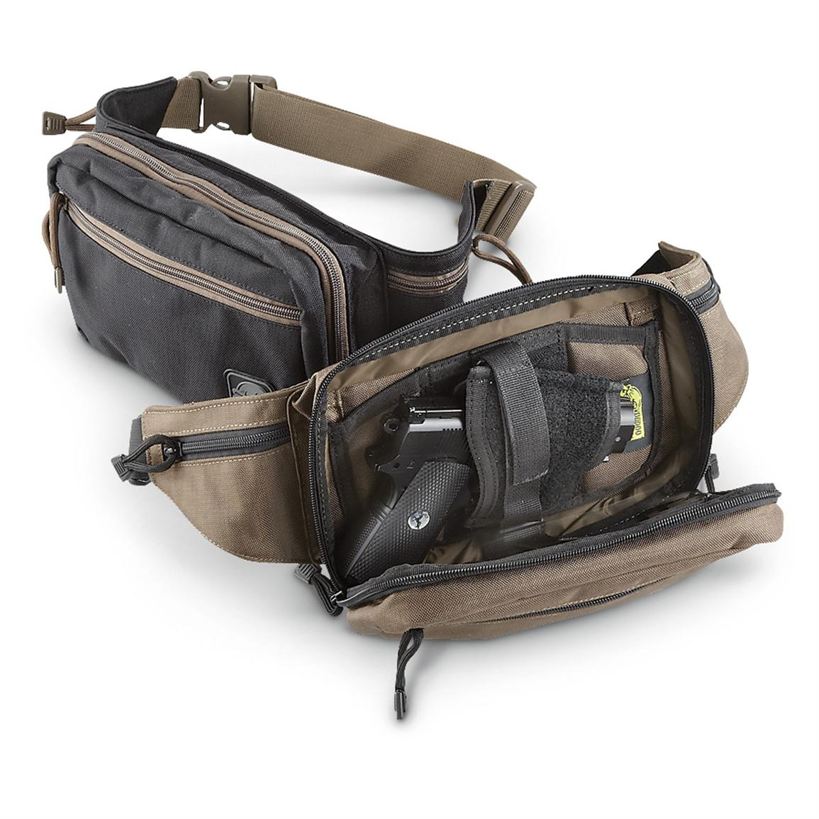 Voodoo Tactical™ Discreet Concealment Fanny Pack, Black or Brown • 175-cu. in. capacity