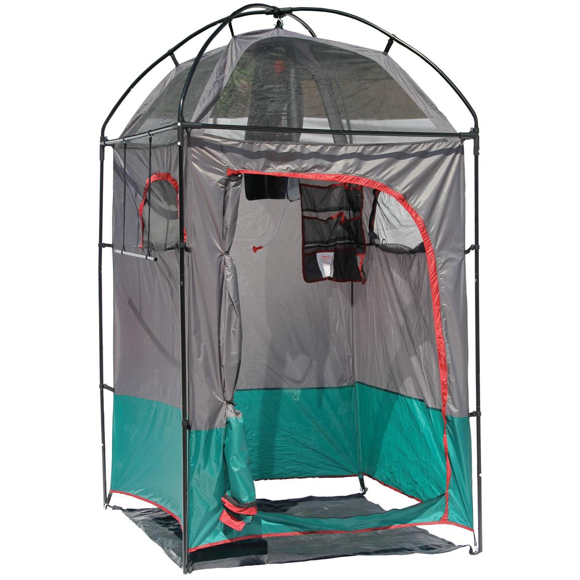 Texsport deluxe camping shower shelter combo 293794 Deluxe portable bathrooms