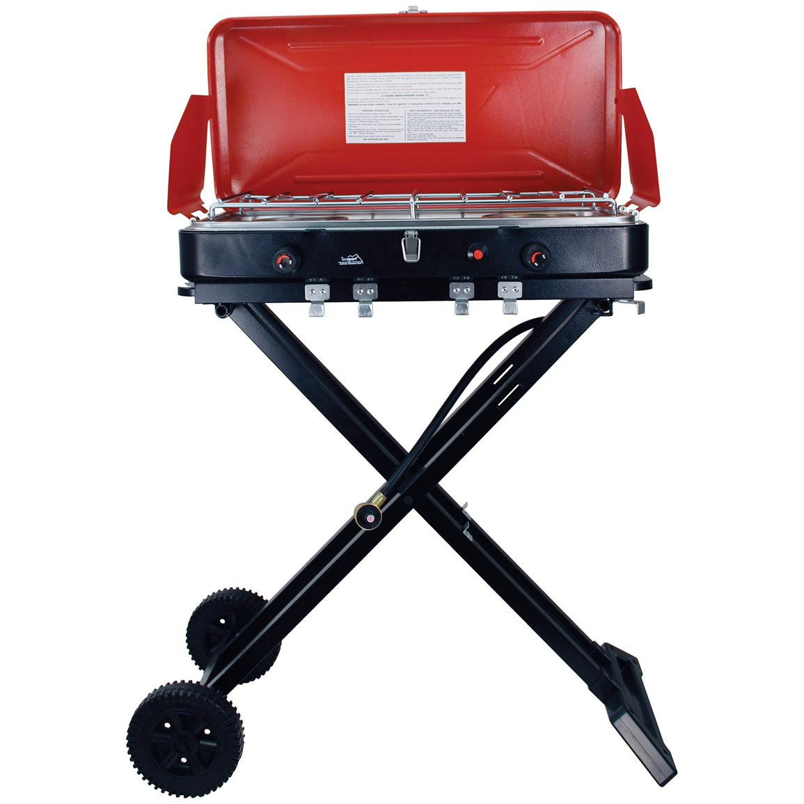 Texsport® Travel 'n' Trail High-output Dual Burner Insta-Light Propane Stove / Grill