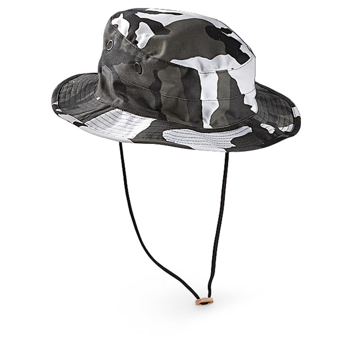 2 HQ ISSUE® Military-style BDU Boonie Hats, Urban Camo