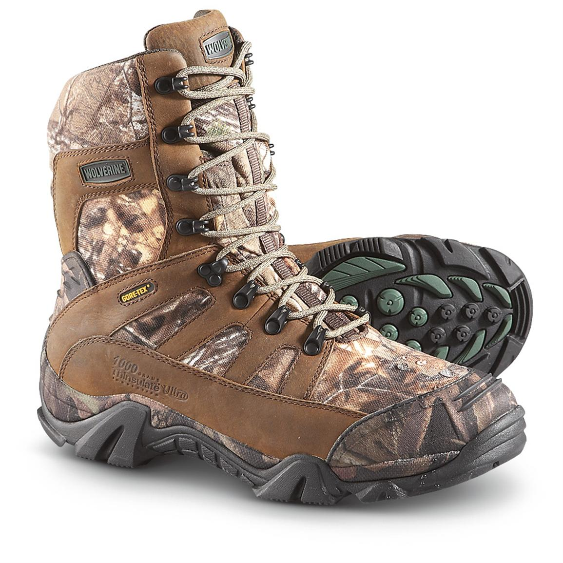 Men's Wolverine® Ridgeline Xtreme 1,000 Gram Thinsulate™ Ultra Insulation GORE-TEX® Boots, Realtree® Xtra