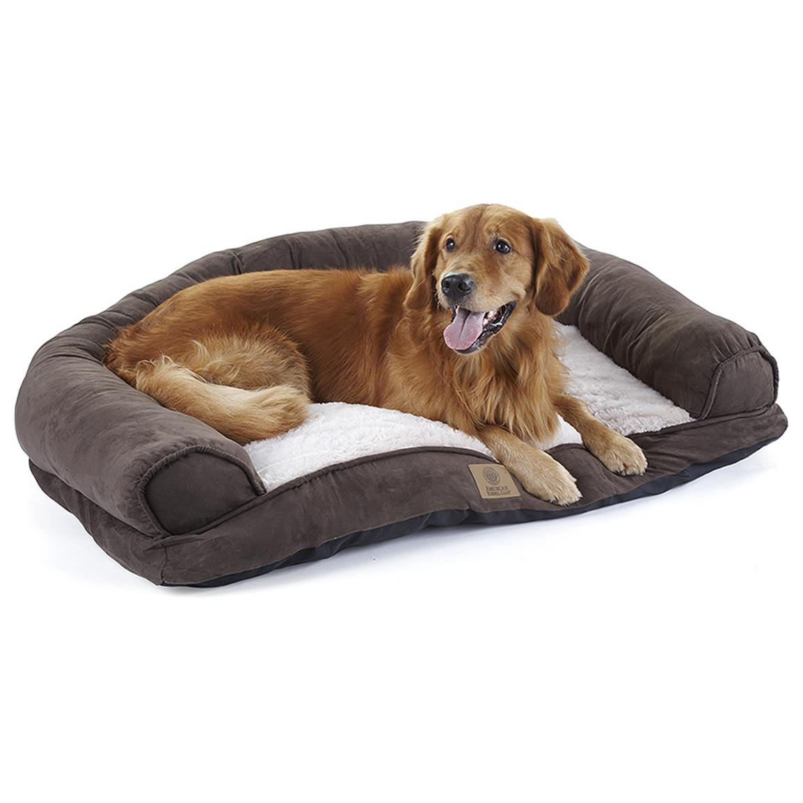 "American Kennel Club® 42"" Suede Fur Sofa, Chocolate"