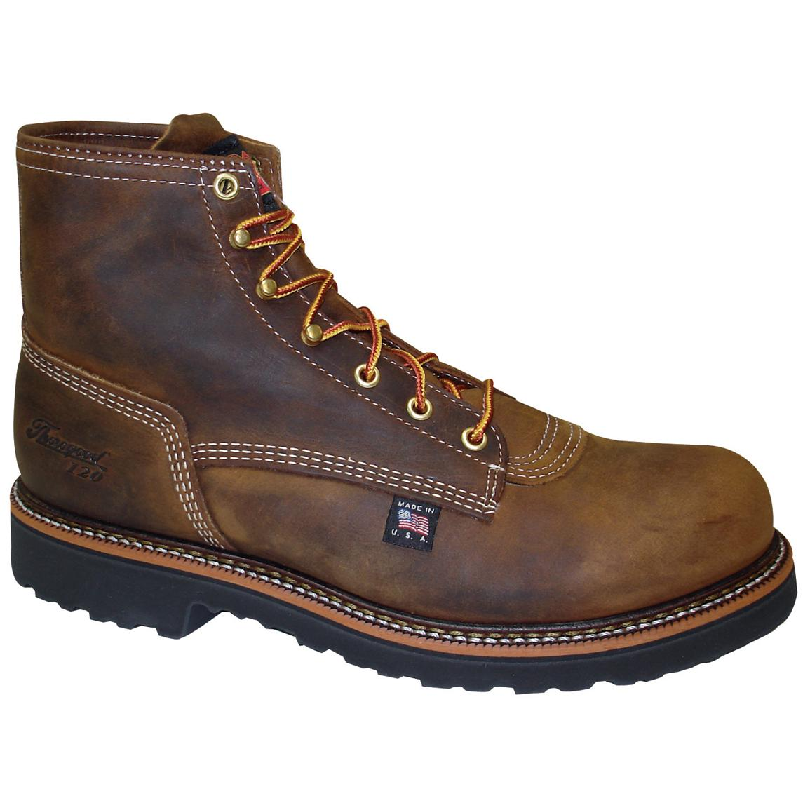 "Men's Thorogood® 6"" Plain Toe Work Boots, Brown"