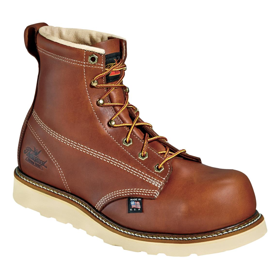 "Men's Thorogood® 6"" Emperor Toe Composite Safety Toe Work Boot, Brown"