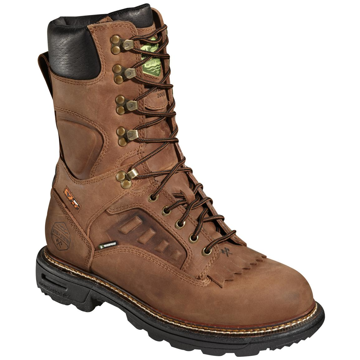 "Men's 10"" Waterproof Breathable Wood 'N' Stream™ ELX LTT VGS 200 gram Thinsulate™ Insulation  Boots, Brown"