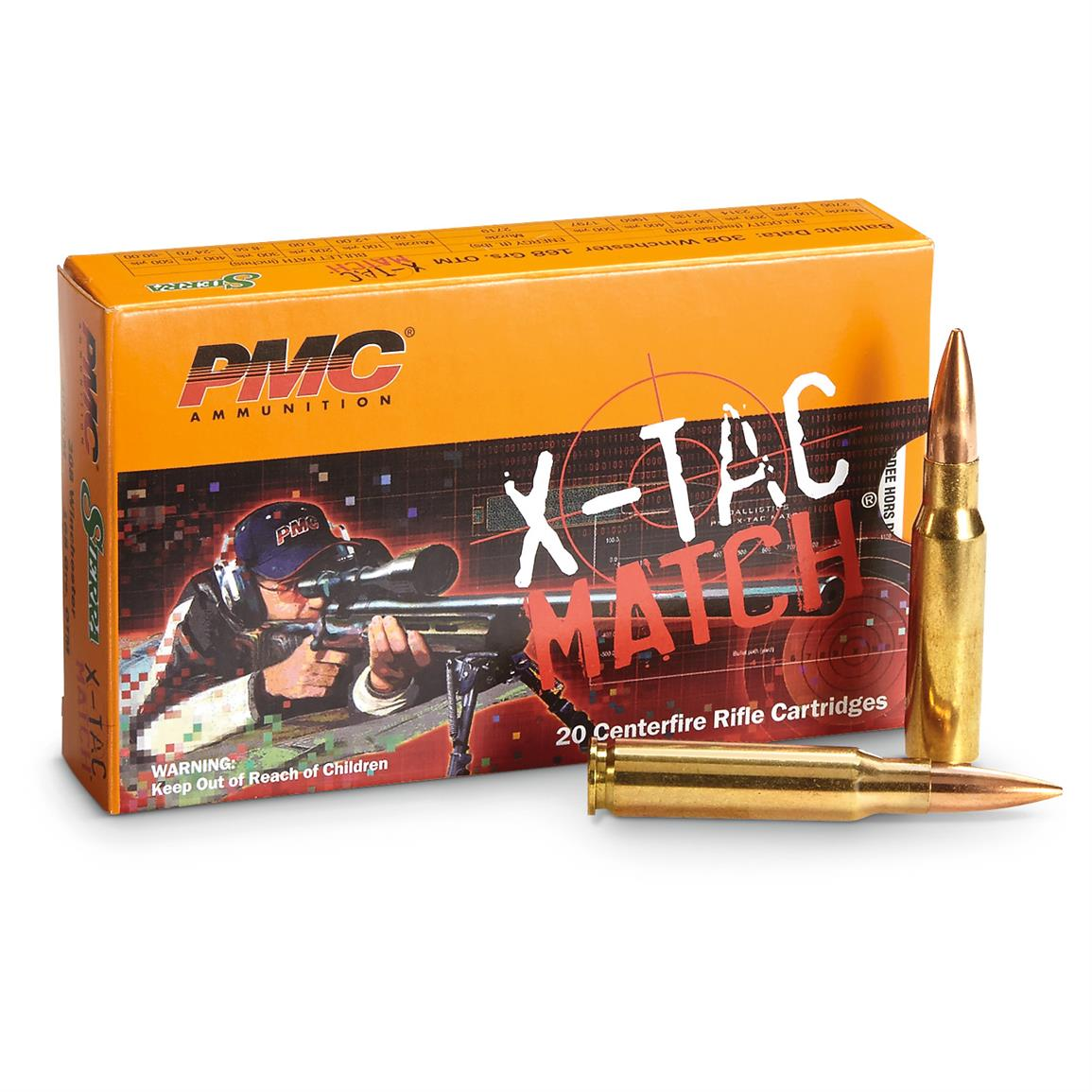 PMC X-TAC Match,  308 Winchester, OTM, 168 Grain, 20 Rounds