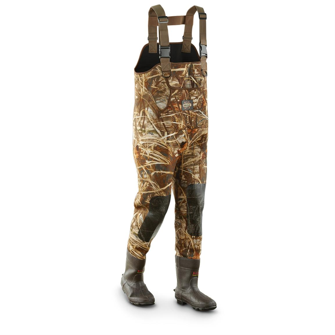 Guide Gear® 3.5mm 800 gram Thinsulate™ Ultra Insulation Boot Waders, Advantage® Max-4™