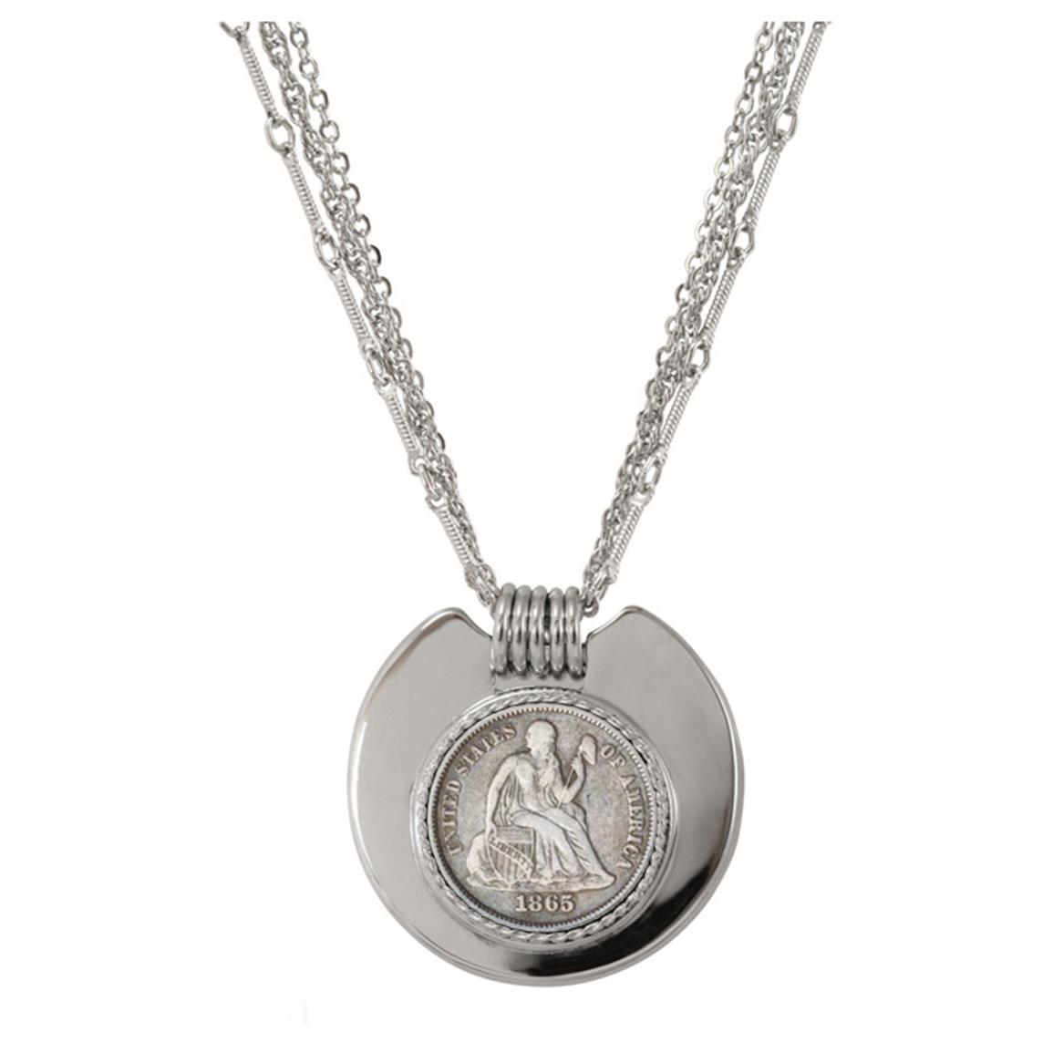 Civil War Coin Triple Strand Pendant from American Coin Treasures