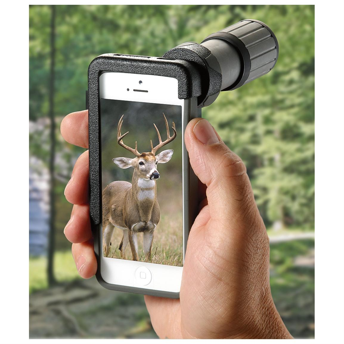 Carson HookUpz iPhone Adapter with 7x18 Monocular