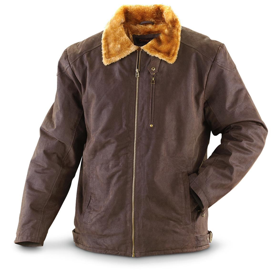 Guide Gear® Distressed Leather Aviator Jacket