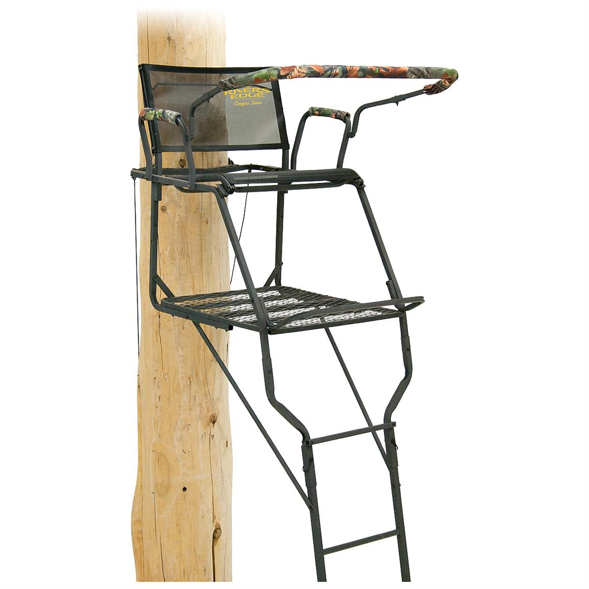 Accommodates Bow And Gun Shooting With Extra Wide Flip Up Seat And Extra