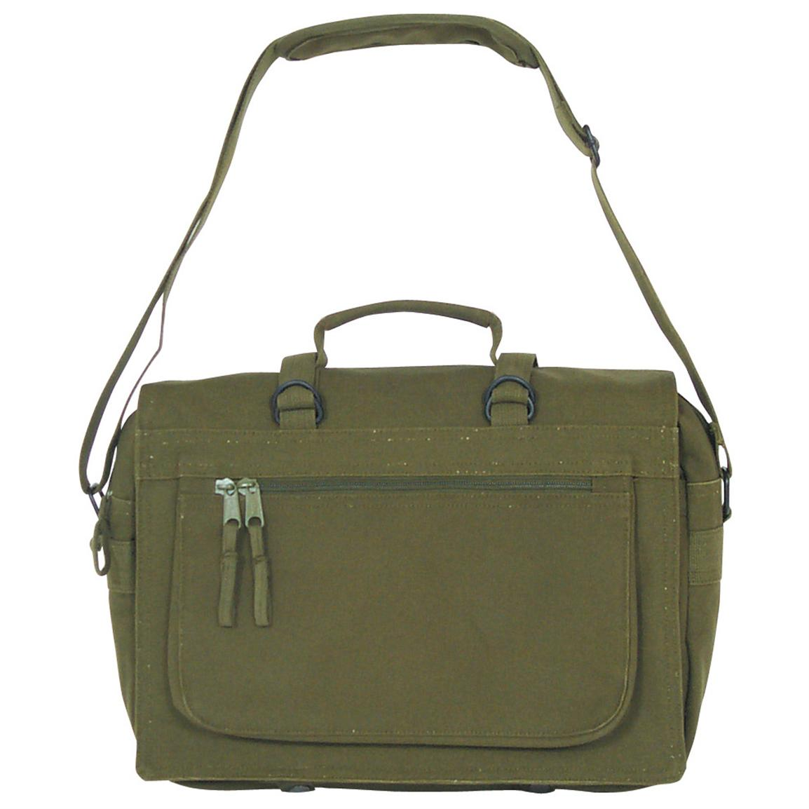 Fox Outdoor™ Ivy Leaguer Shoulder Bag, Olive Drab