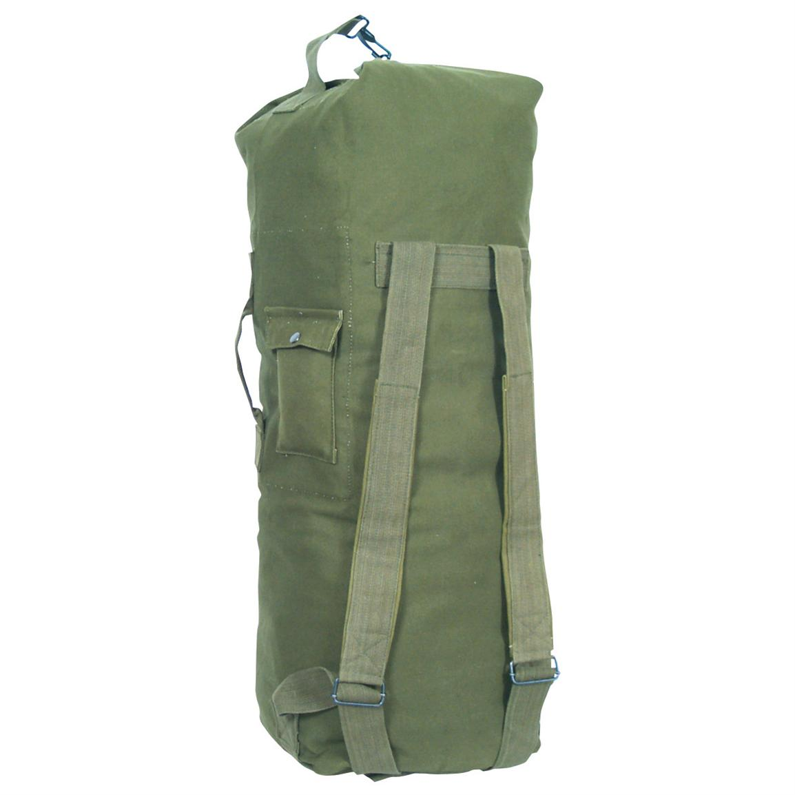 Fox Outdoor™ Two Strap Duffel Bag, Olive Drab