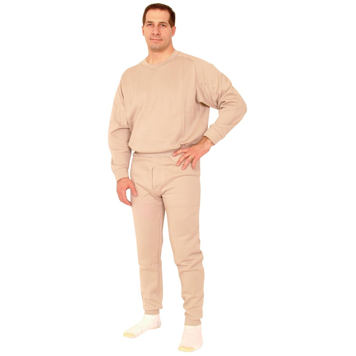 Fox Tactical™ ECWCS Polypropylene Long Underwear Top, Sand