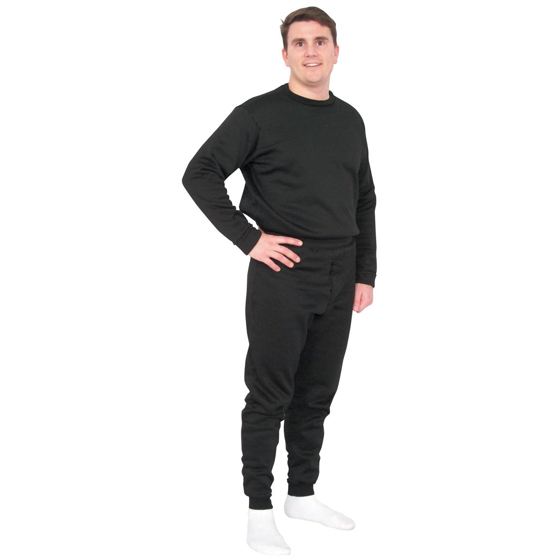 Fox Tactical™ ECWCS Polypropylene Long Underwear Top, Black