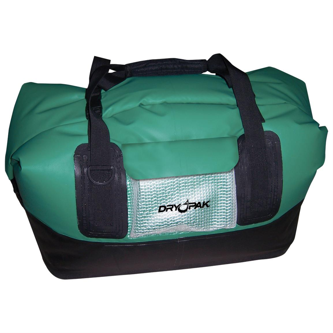 Dry Pak Waterproof Roll-top Duffel Bag, Green