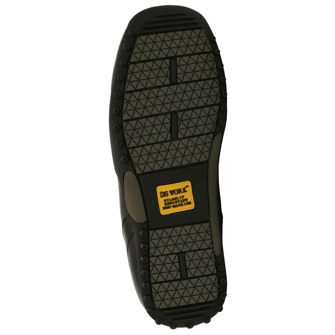 Oil and slip-resistant non-marking rubber outsole with tread design for superior traction
