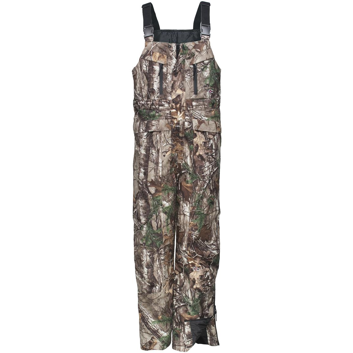 Walls® 10X® Thinsulate™ Insulated Bib Overalls, Realtree Xtra