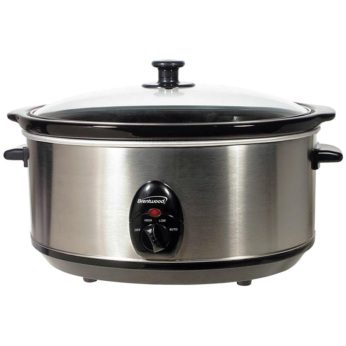 6.5-quart Slow Cooker, Stainless Steel