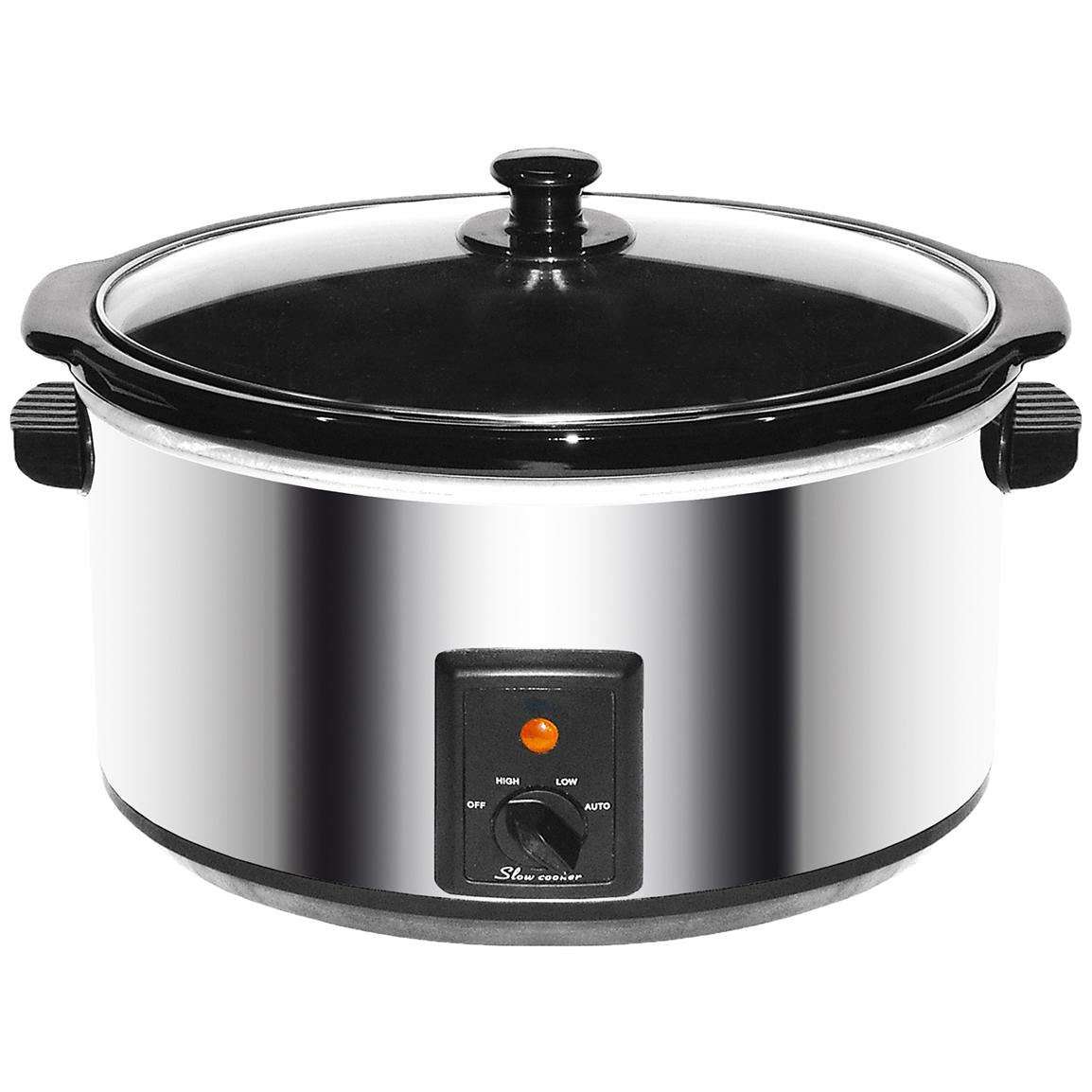 8-quart Slow Cooker, Stainless Steel