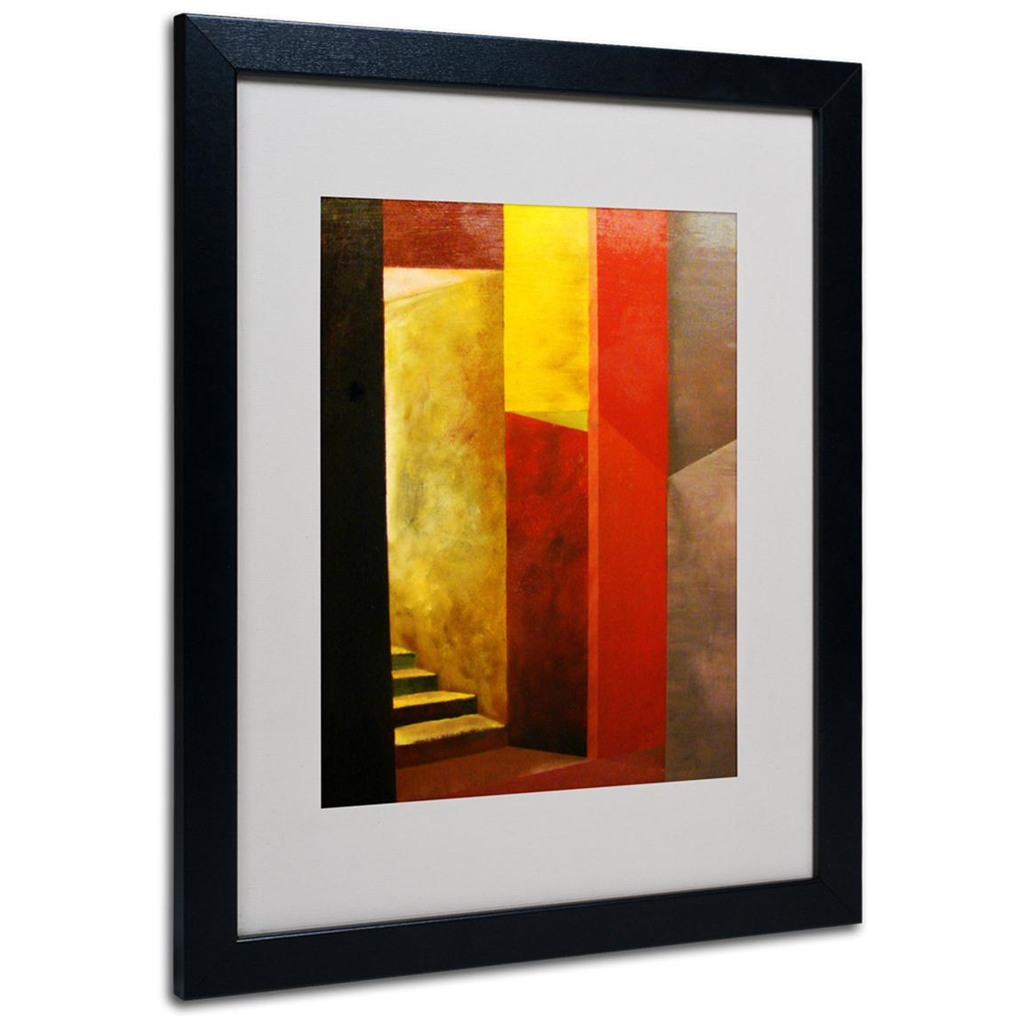 """Mystery Stairwell"" Framed Matted Art by Michelle Calkins, Black"